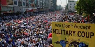 ಮಯನ್ಮಾರ್: ಮಿಲಿಟರಿ ಪಡೆಯ ಗುಂಡಿಗೆ 50 ಪ್ರತಿಭಟನಾಕಾರರು ಬಲಿ