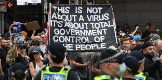 ಆಸ್ಟ್ರೇಲಿಯಾ: ಲಾಕ್ಡೌನ್ ವಿರುದ್ಧ ಪ್ರತಿಭಟನೆ, 218 ಜನರ ಬಂಧನ